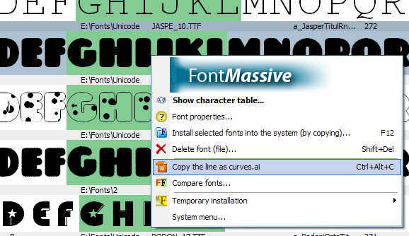 FontMassive Screenshot 1