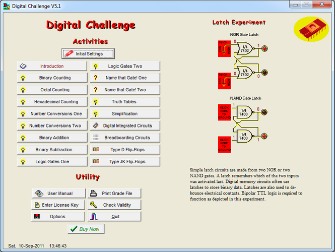 Digital Challenge Screenshot
