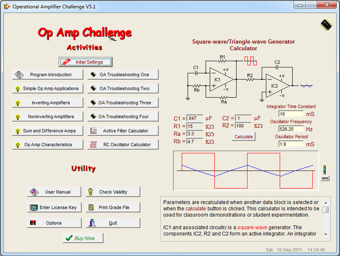 Op Amp Challenge Screenshot