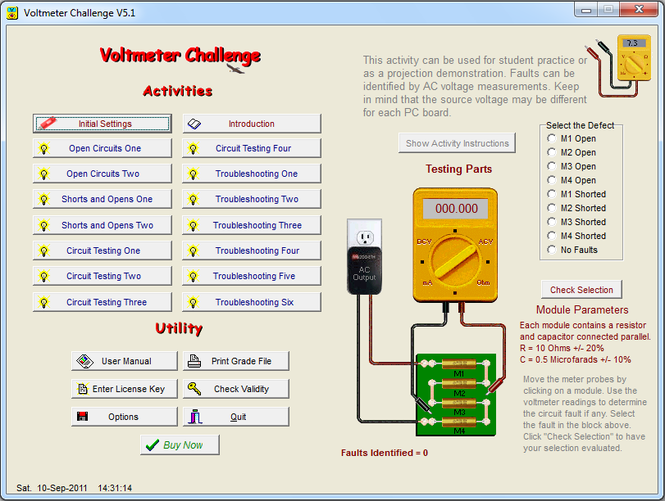 Voltmeter Challenge Screenshot