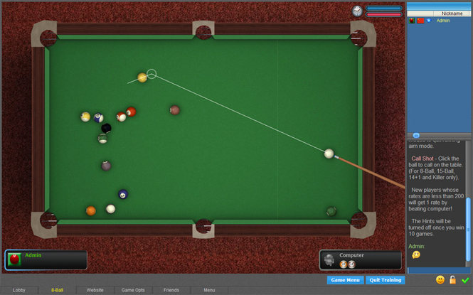 Poolians Free Pool 2D Screenshot