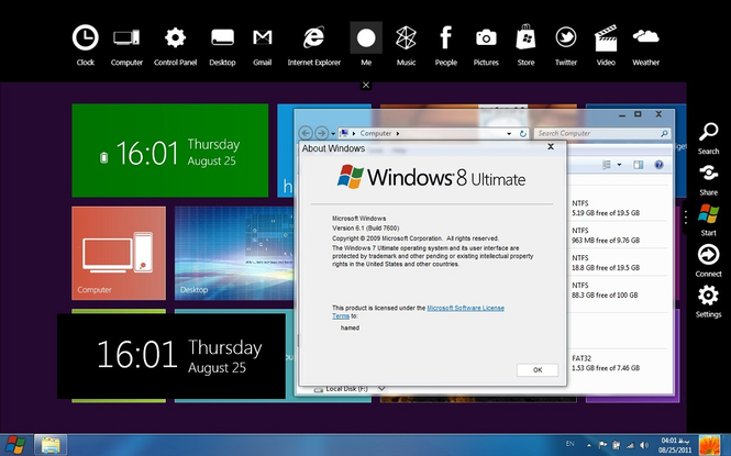 Windows 8 Developer Preview Screenshot 2