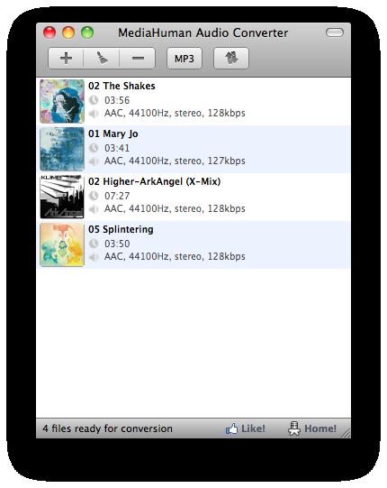 MediaHuman Audio Converter MAC Screenshot 1