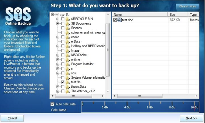 SOS Online Backup Screenshot 4