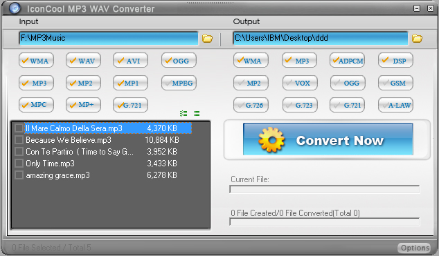 IconCool MP3 WAV Converter Screenshot