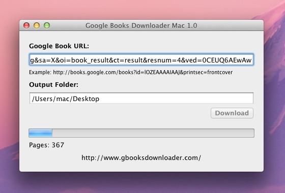 Google Books Downloader Mac Screenshot