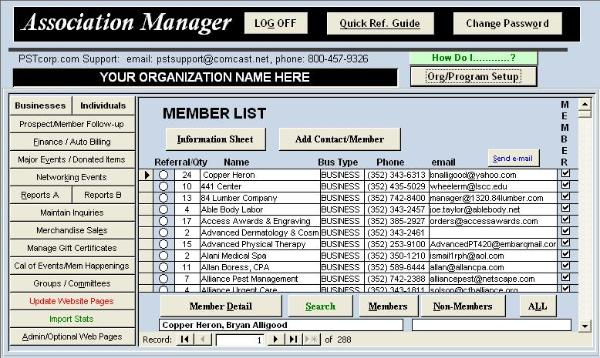 Association Manager Screenshot 1
