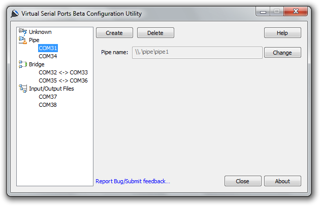 Free Virtual Serial Ports Screenshot 1