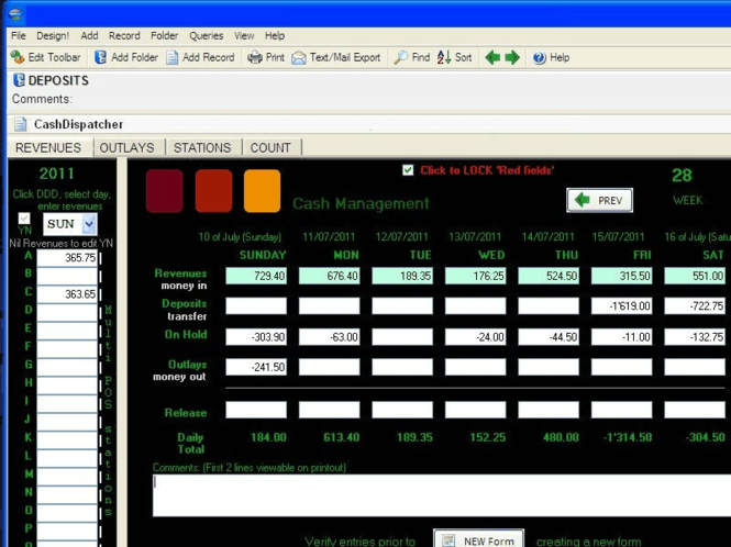 CashDispatcher Cash Manager Screenshot