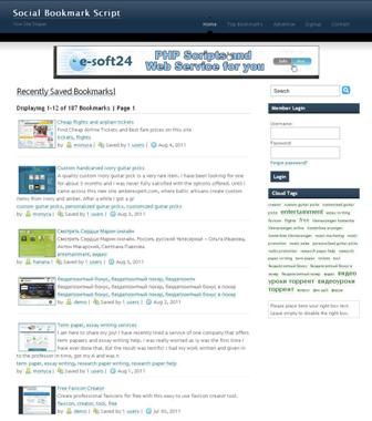 Social Bookmark Script Screenshot 1
