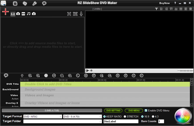 RZ Slideshow DVD Maker Screenshot