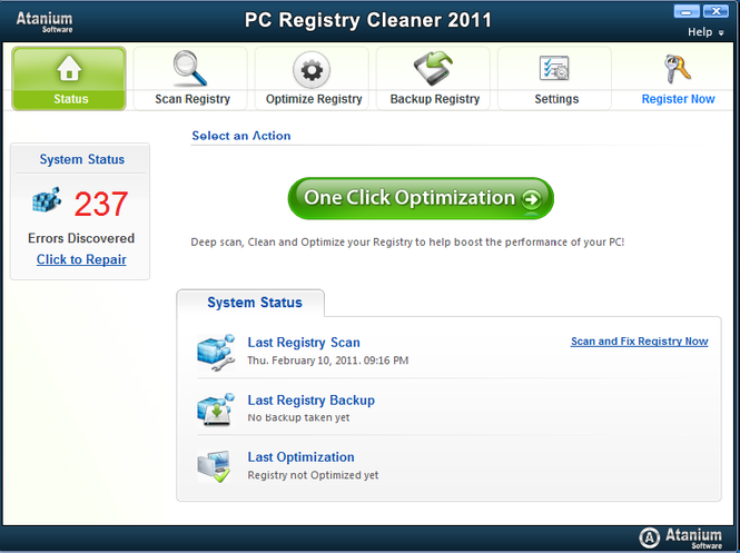 PC Registry Cleaner Screenshot 1