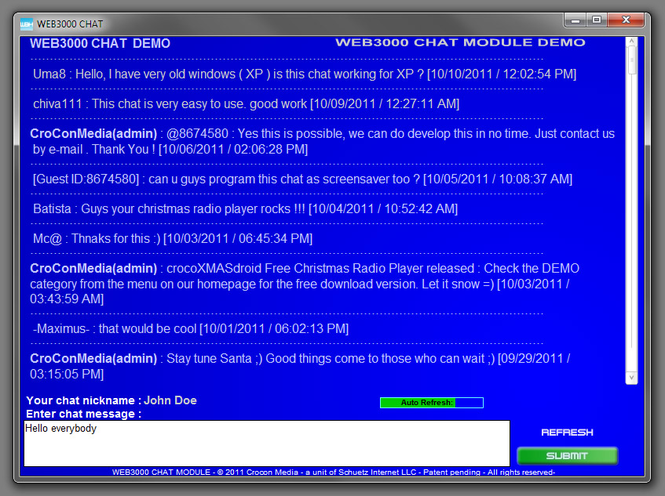 WEB3000 Chat Screenshot