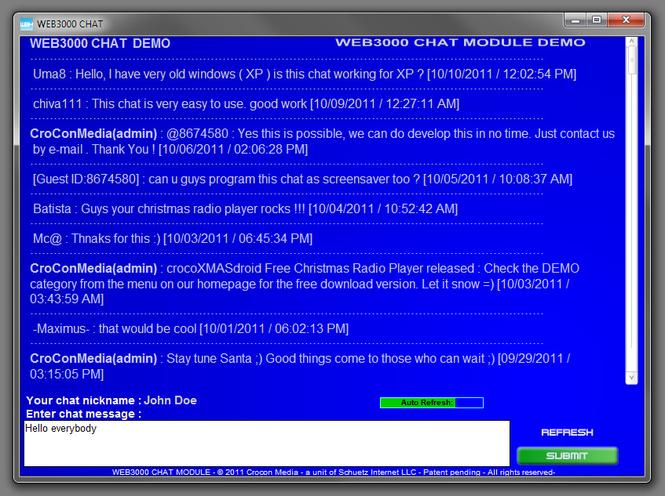 WEB3000 Chat Screenshot 1