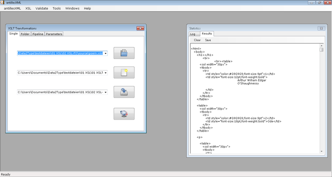 antillesXML Screenshot 1