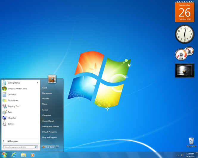 Windows 7 (SP1 included) Screenshot