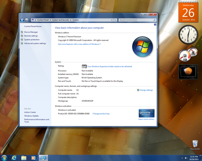 Windows 7 (SP1 included) Screenshot 5