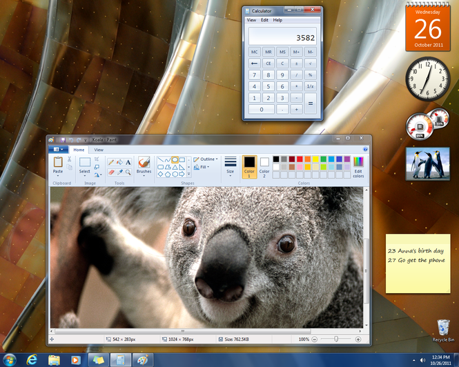 Windows 7 (SP1 included) Screenshot 2