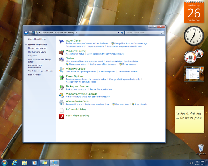 Windows 7 (SP1 included) Screenshot 3