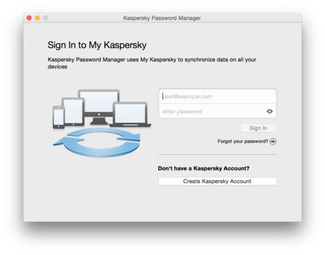 Kaspersky Password Manager for Mac Screenshot
