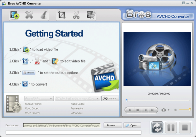 Bros AVCHD Converter Screenshot