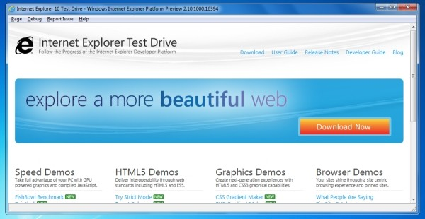 Internet Explorer 10 Screenshot 4