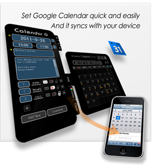 Calendar G for Mac OSX Screenshot