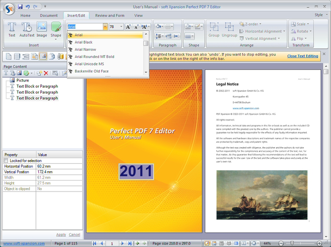 Perfect PDF 7 Editor Screenshot