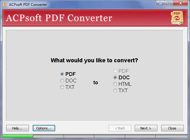 ACPsoft PDF Converter Screenshot 1
