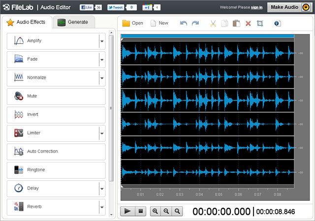 FileLab Audio Editor Screenshot 1