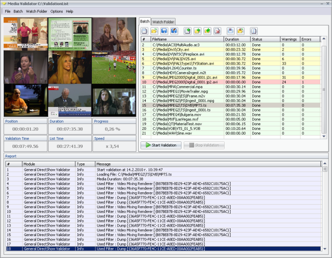 Media Validator Screenshot