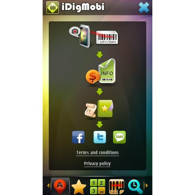 iDigMobi: UPC/EAN barcode scanning & Social shopping Screenshot 1