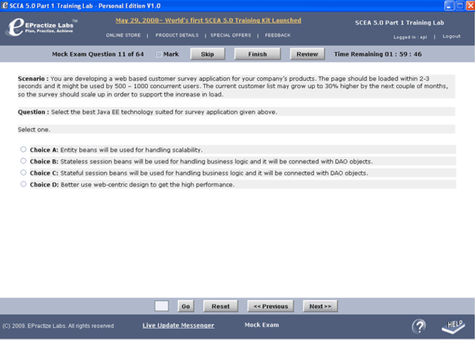Upgrade to Java SE 7 OCP Certification Training Lab Screenshot