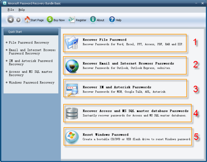 Download Ainorsoft Password Recovery Bundle