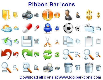 Ribbon Bar Icons Screenshot