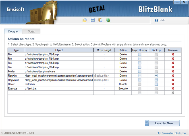 BlitzBlank Screenshot