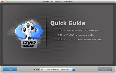 DVDAux DVD Converter for Mac Screenshot 1