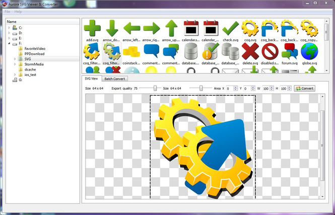 Aurora SVG Viewer & Converter Screenshot 1