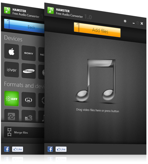 Hamster Free Audio Converter Screenshot 1