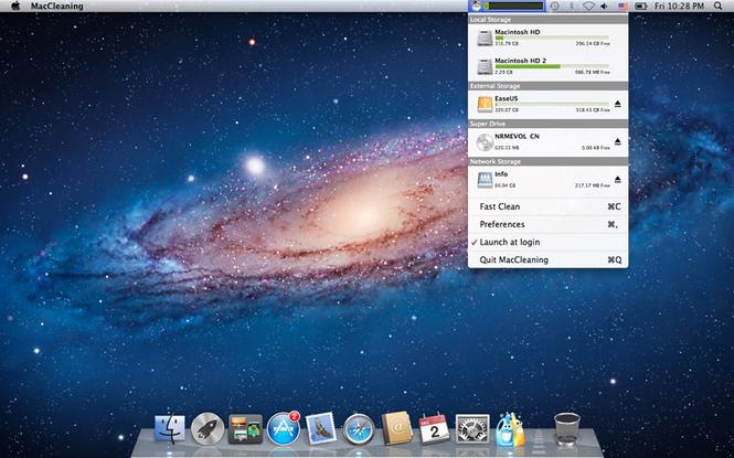 MacCleaning Screenshot