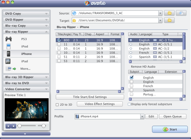 DVDFab Blu-ray Copy and Blu-ray Ripper Screenshot 1