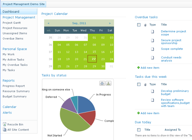 Project Management for MS SharePoint Screenshot