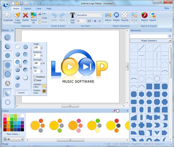 Sothink Logo Creator Screenshot