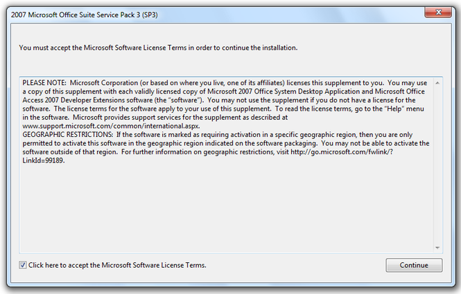 Microsoft Office 2007 Service Pack 3 (SP3) Screenshot 3