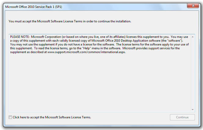 Microsoft Office 2010 Service Pack 1 Screenshot 4