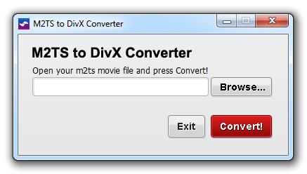 M2TS to DivX Converter Screenshot 1