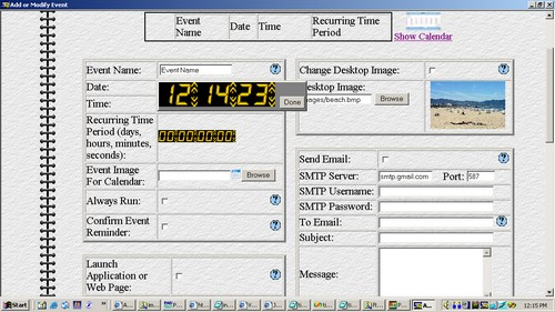 Time Picker Screenshot