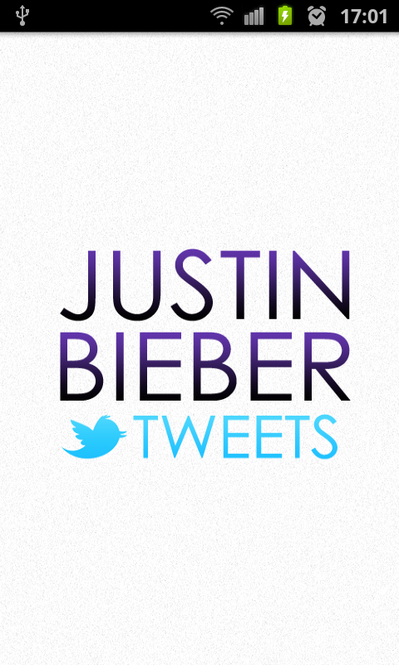 Justin Bieber Tweets Screenshot