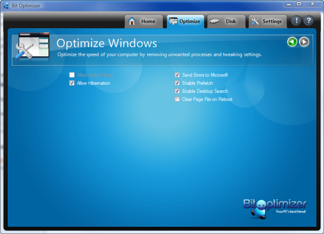 Bit Optimizer Screenshot
