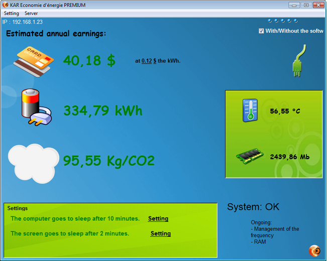 KAR Energy Software PREMIUM Screenshot